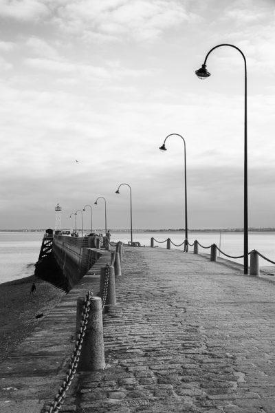 La jetée du port de Cancale