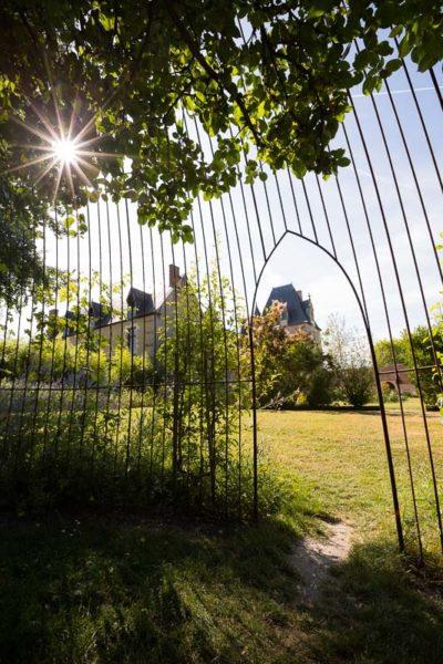 Soleil dans le parc du Château de Fougères-sur-Bièvre